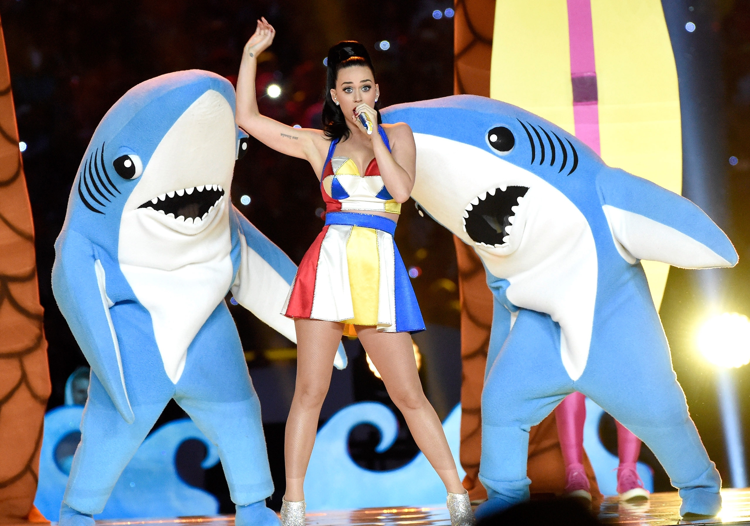 Katy Perry's 'left Shark' Dancer Talks Super Bowl within Katy Perry Super Bowl
