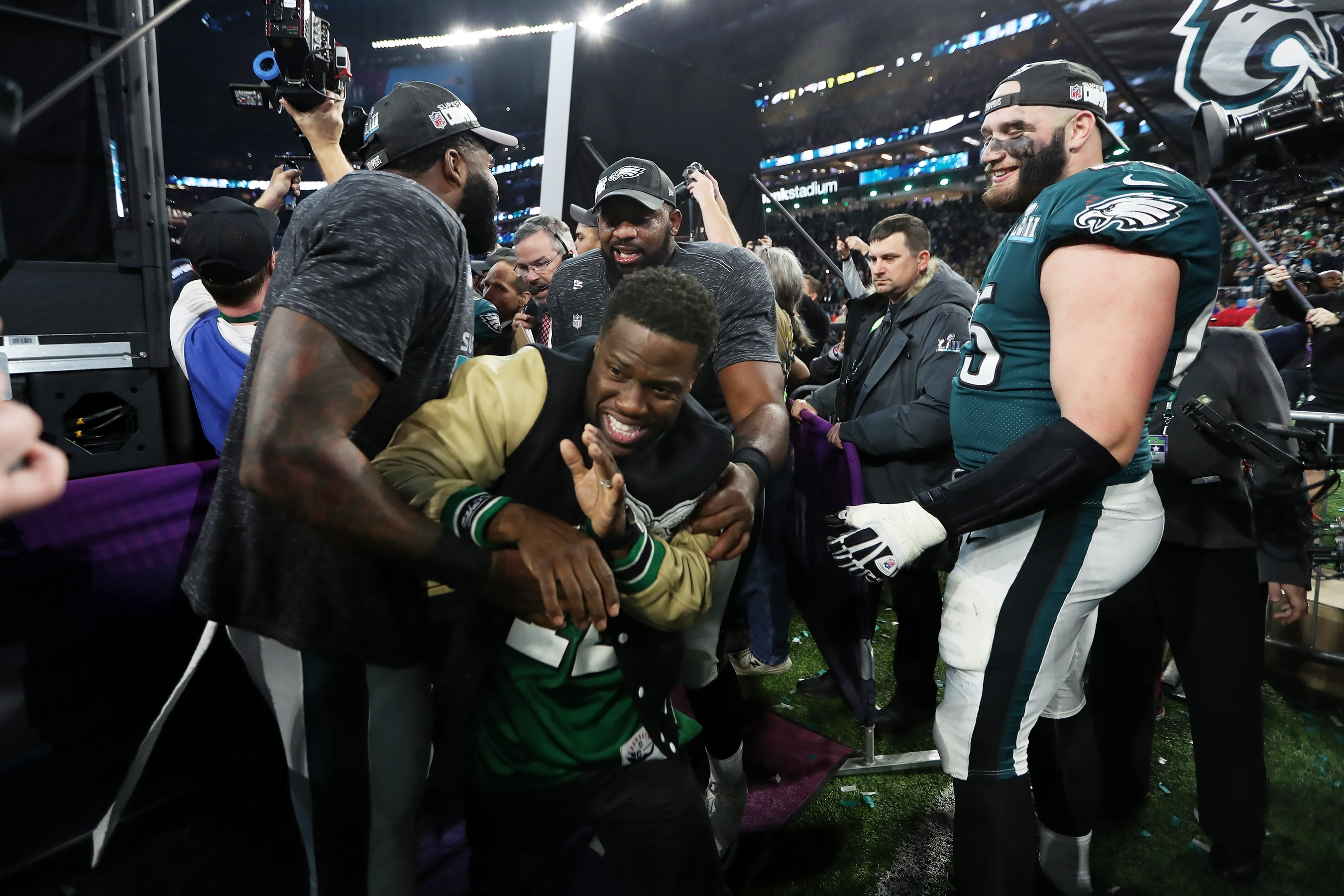 Kevin Hart Tries To Storm Super Bowl Stage, Crash Interview throughout Kevin Hart Super Bowl