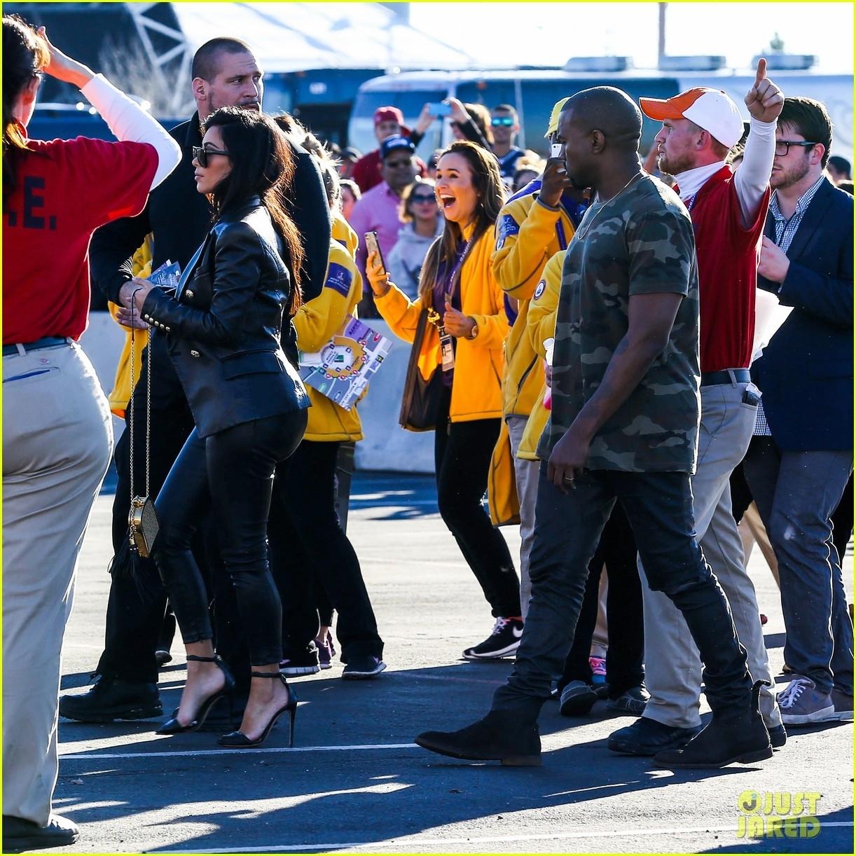 Kim Kardashian & Kanye West Are Anything But Sad For The for Kanye West Super Bowl