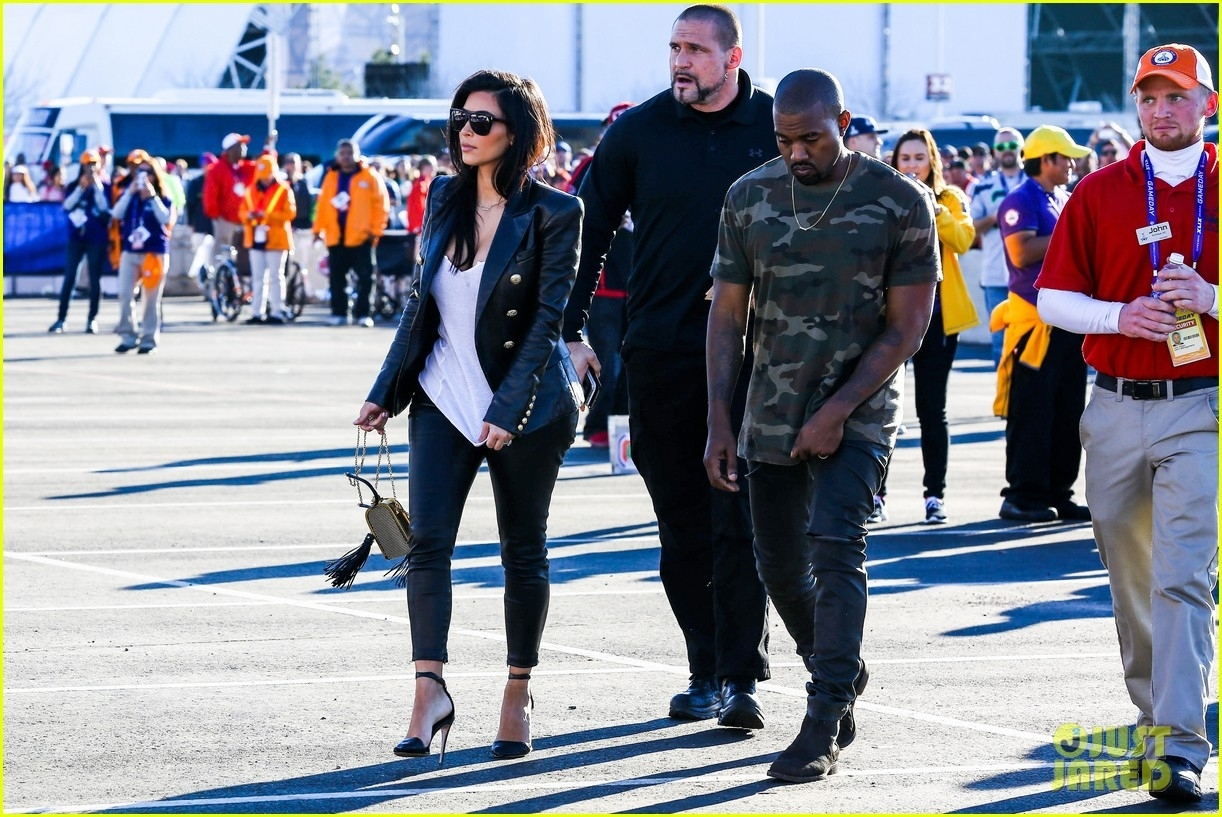 Kim Kardashian & Kanye West Are Anything But Sad For The pertaining to Kanye West Super Bowl
