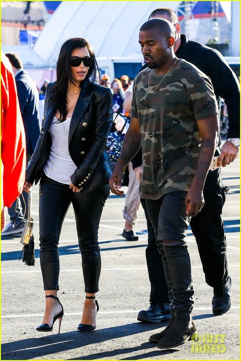 Kim Kardashian & Kanye West Are Anything But Sad For The regarding Kanye West Super Bowl