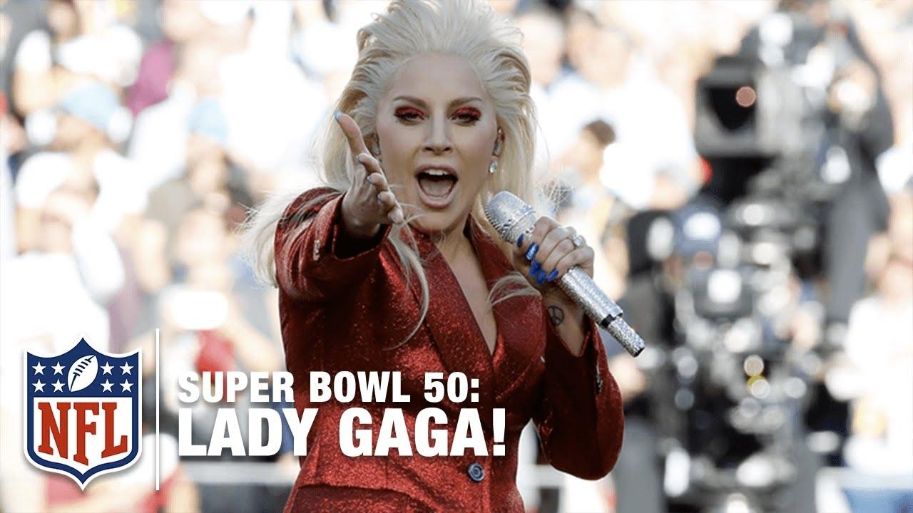 Lady Gaga Sings The National Anthem At Super Bowl 50 | Nfl in Lady Gaga Super Bowl 2018