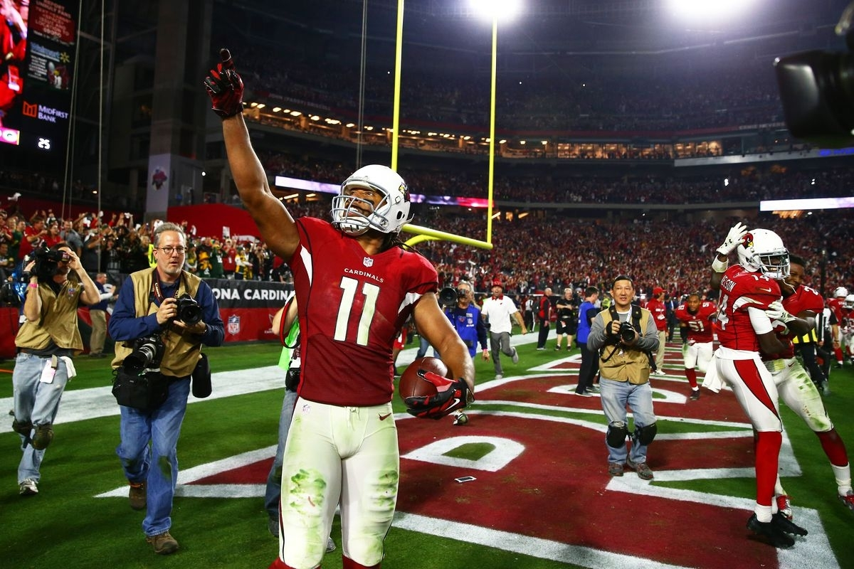 Larry Fitzgerald Catches His 100Th Career Touchdown Pass throughout Larry Fitzgerald Super Bowl