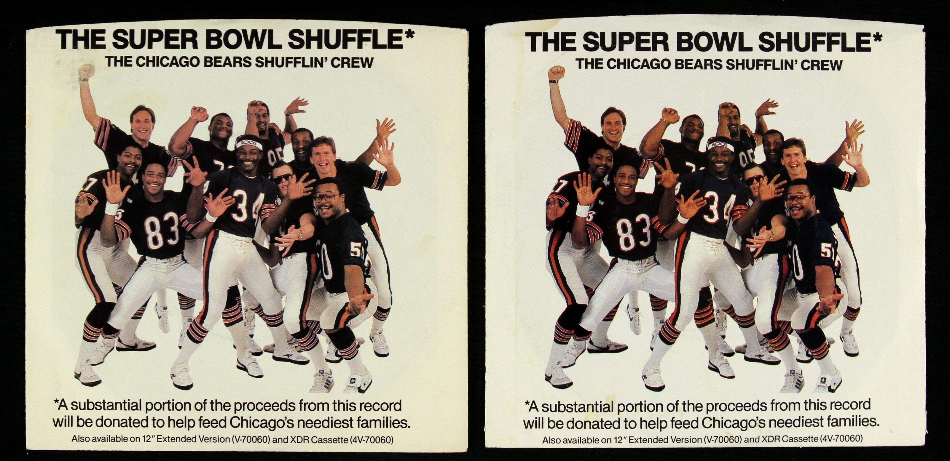 """Lot Detail - 1985 Chicago Bears Super Bowl Shuffle 7"""" 45 Rpm with The Super Bowl Shuffle"""