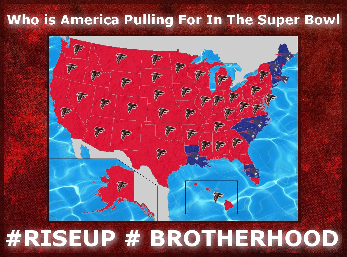 Made This Map For /falcons Thought You Guys Might Find It regarding Super Bowl Us Map