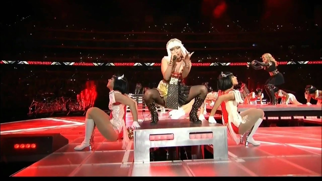 Madonna Give Me All Your Luvin' Nicki Minaj M.i.a. Super Bowl 2012 Hd 1080P intended for Nicki Minaj Super Bowl