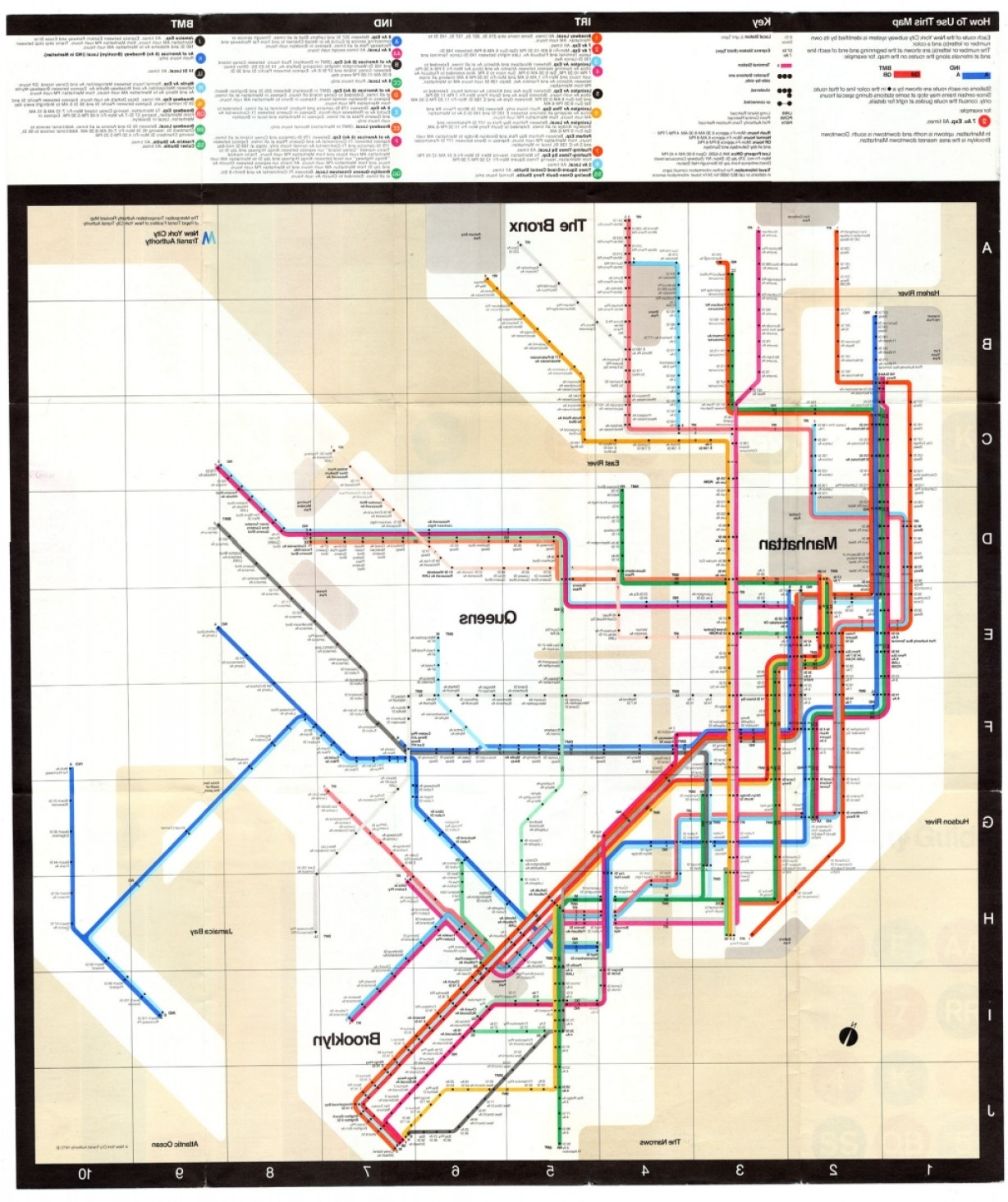 Mapcarte New York City Subway Mapmassimo Vignelli throughout Vignelli Super Bowl Map