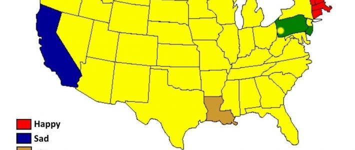 Maps On The Web — Super Bowl Reaction Map. for Super Bowl Reaction Map