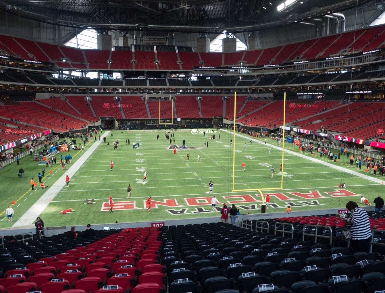 Mercedes-Benz Stadium Section 102 Seat Views   Seatgeek pertaining to Atlanta Super Bowl Stadium Seating Chart
