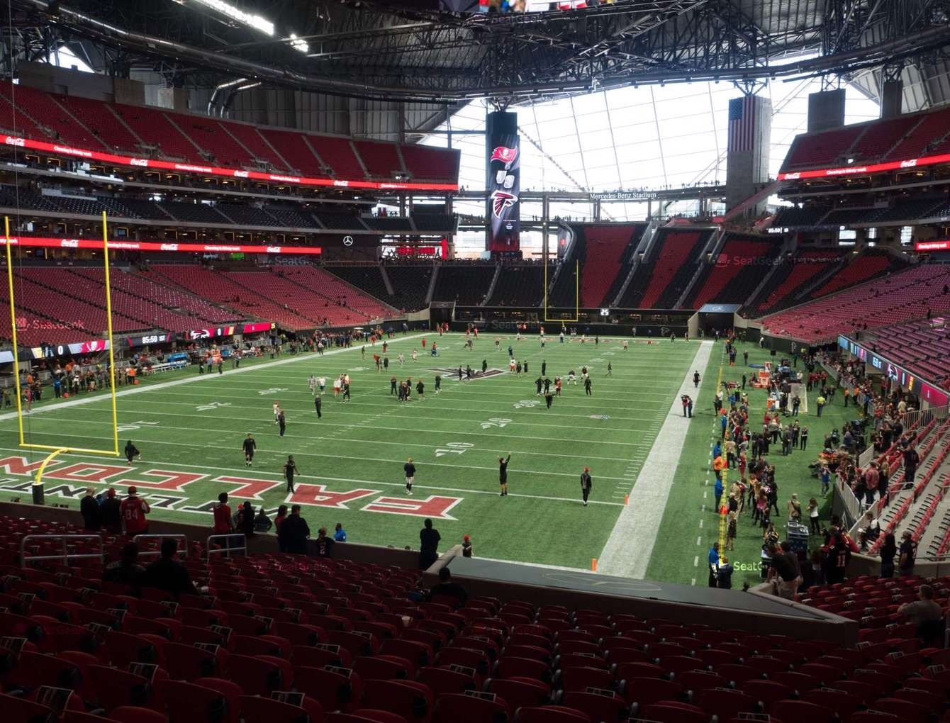 Mercedes-Benz Stadium Section 117 Seat Views | Seatgeek in Atlanta Stadium Super Bowl Seating Chart