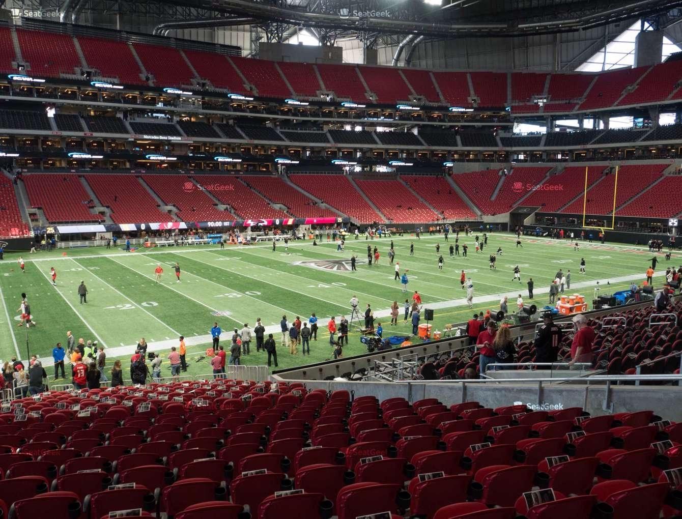 Mercedes-Benz Stadium Section 131 Seat Views | Seatgeek inside Mercedes Benz Stadium Seating Chart For Super Bowl