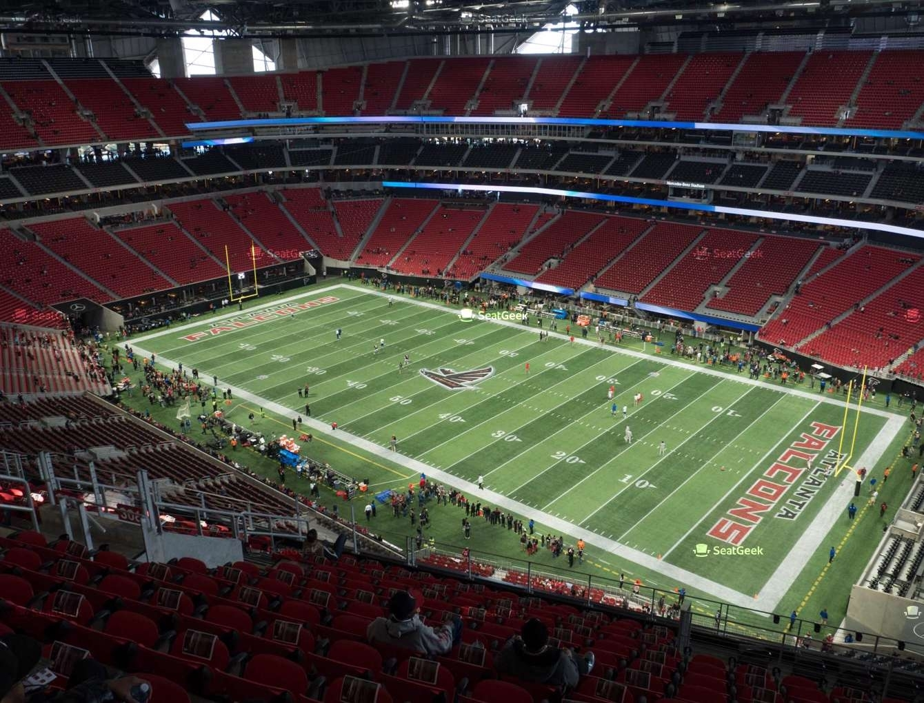 Mercedes-Benz Stadium Section 306 Seat Views | Seatgeek intended for Atlanta Stadium Super Bowl Seating Chart