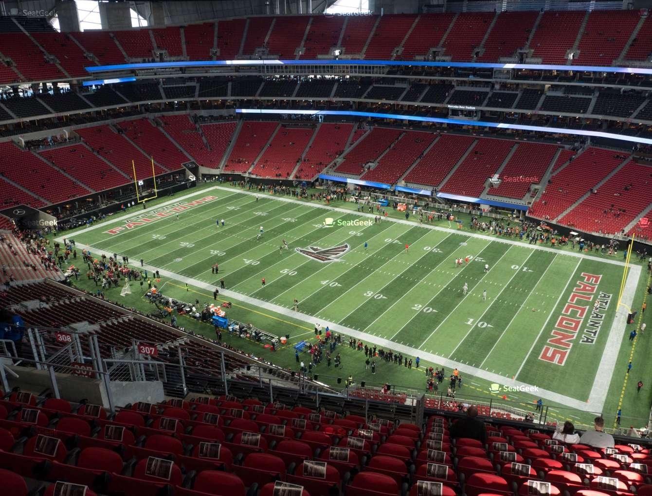 Mercedes-Benz Stadium Section 307 Seat Views | Seatgeek intended for Atlanta Stadium Super Bowl Seating