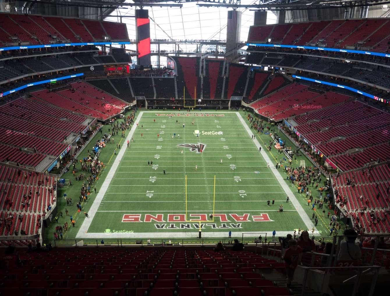 Mercedes-Benz Stadium Section 326 Seat Views | Seatgeek with Atlanta Stadium Super Bowl Seating Capacity