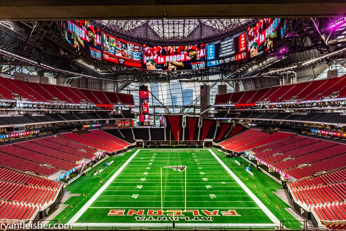 Mercedes-Benz Stadium Vs. Georgia Dome - Alexan Eav pertaining to Mercedes Benz Stadium Super Bowl Map