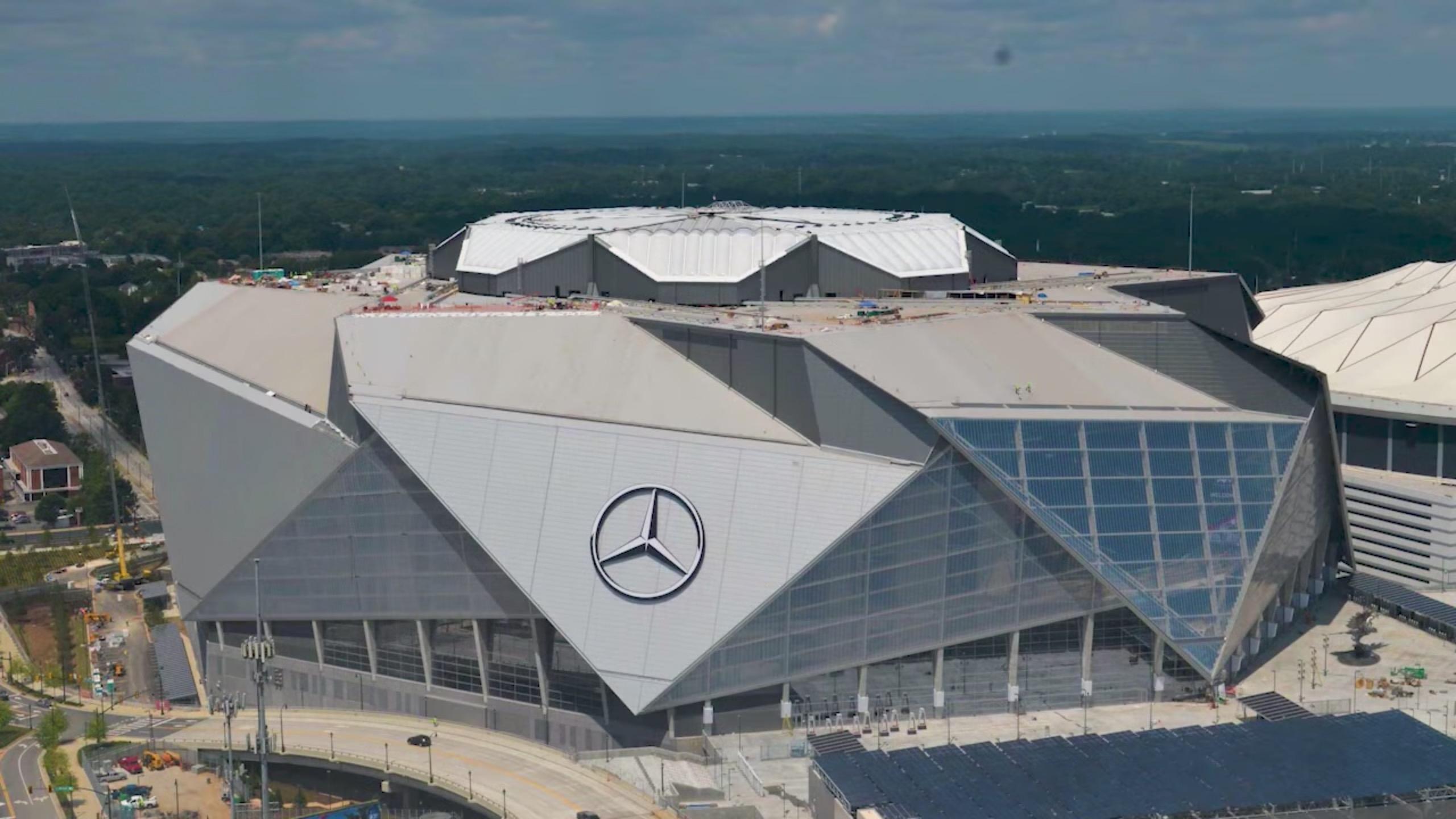 Mercedes-Benz Stadium – Wikipedia throughout Atlanta Super Bowl Stadium Address