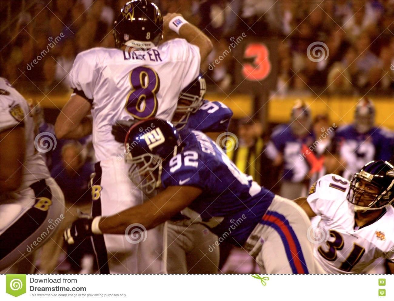 Michael Strahan, New York Giants, Super Bowl Xxxv Editorial intended for Ravens Giants Super Bowl