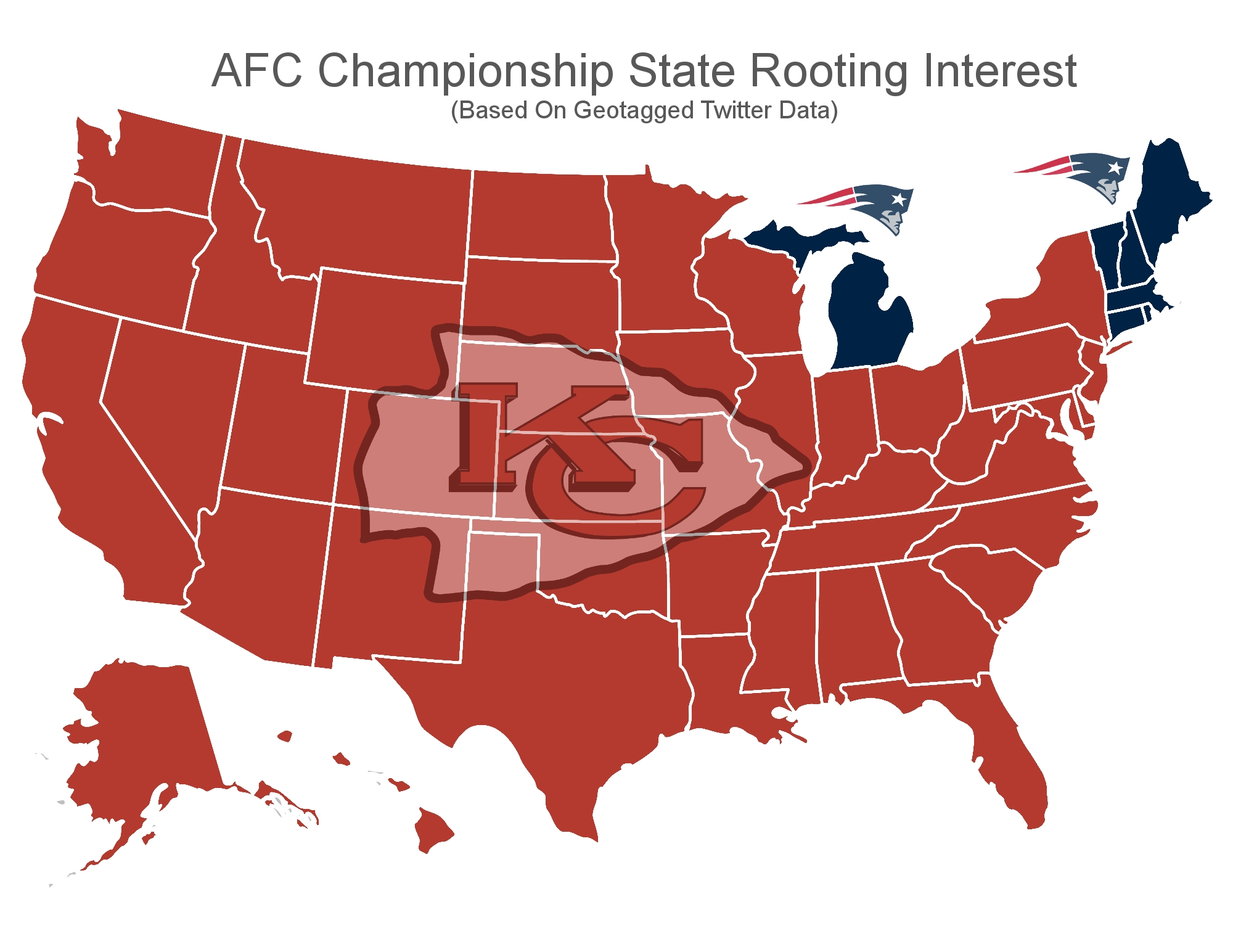 Michigan Is Only Non-New England State Rooting For Patriots in Map Of Super Bowl Wins By Country
