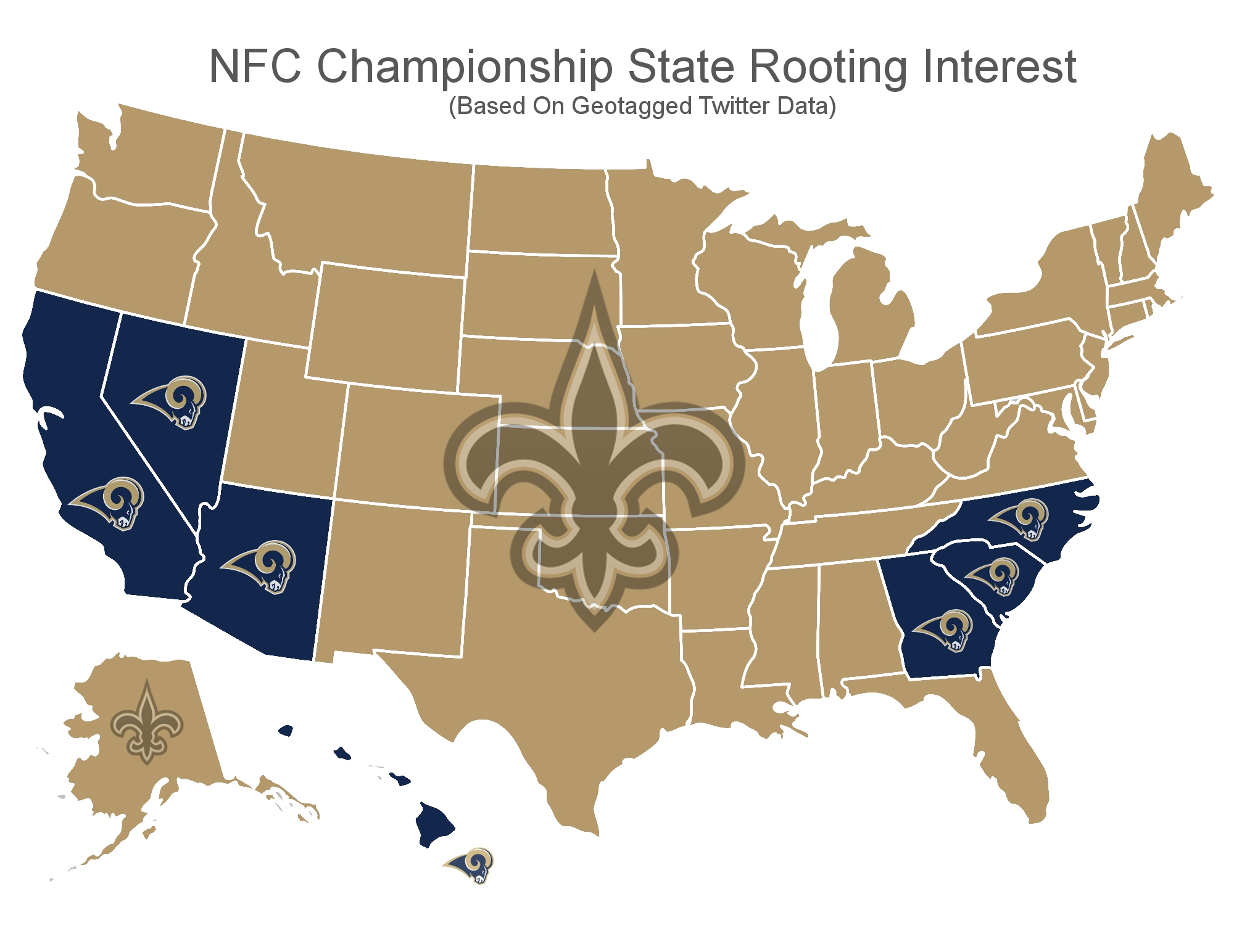 Michigan Is Only Non-New England State Rooting For Patriots regarding Super Bowl State Map