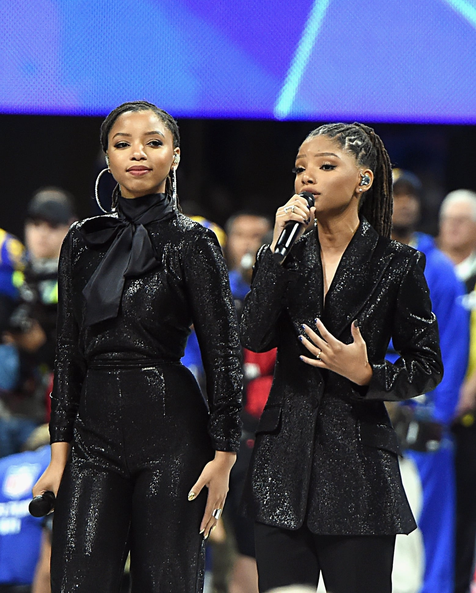 Movies, Tv & Music | Chloe X Halle Delivered A Stunning pertaining to America The Beautiful Super Bowl 2019