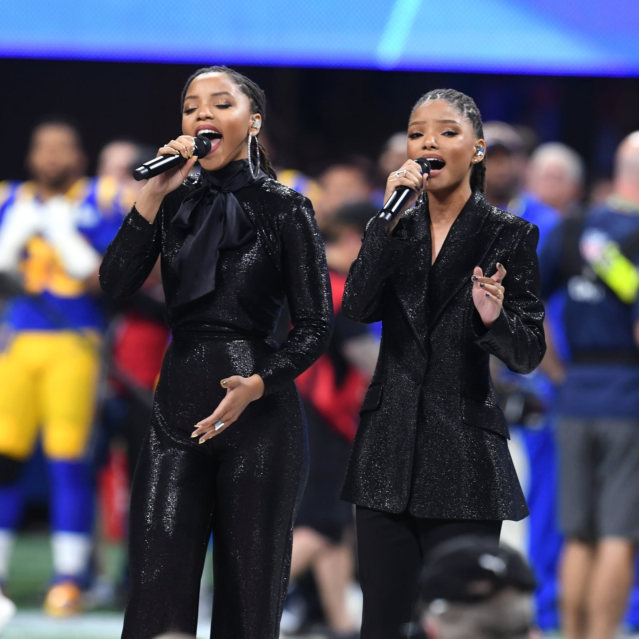 Movies, Tv & Music | Chloe X Halle Delivered A Stunning regarding America The Beautiful Super Bowl 2019