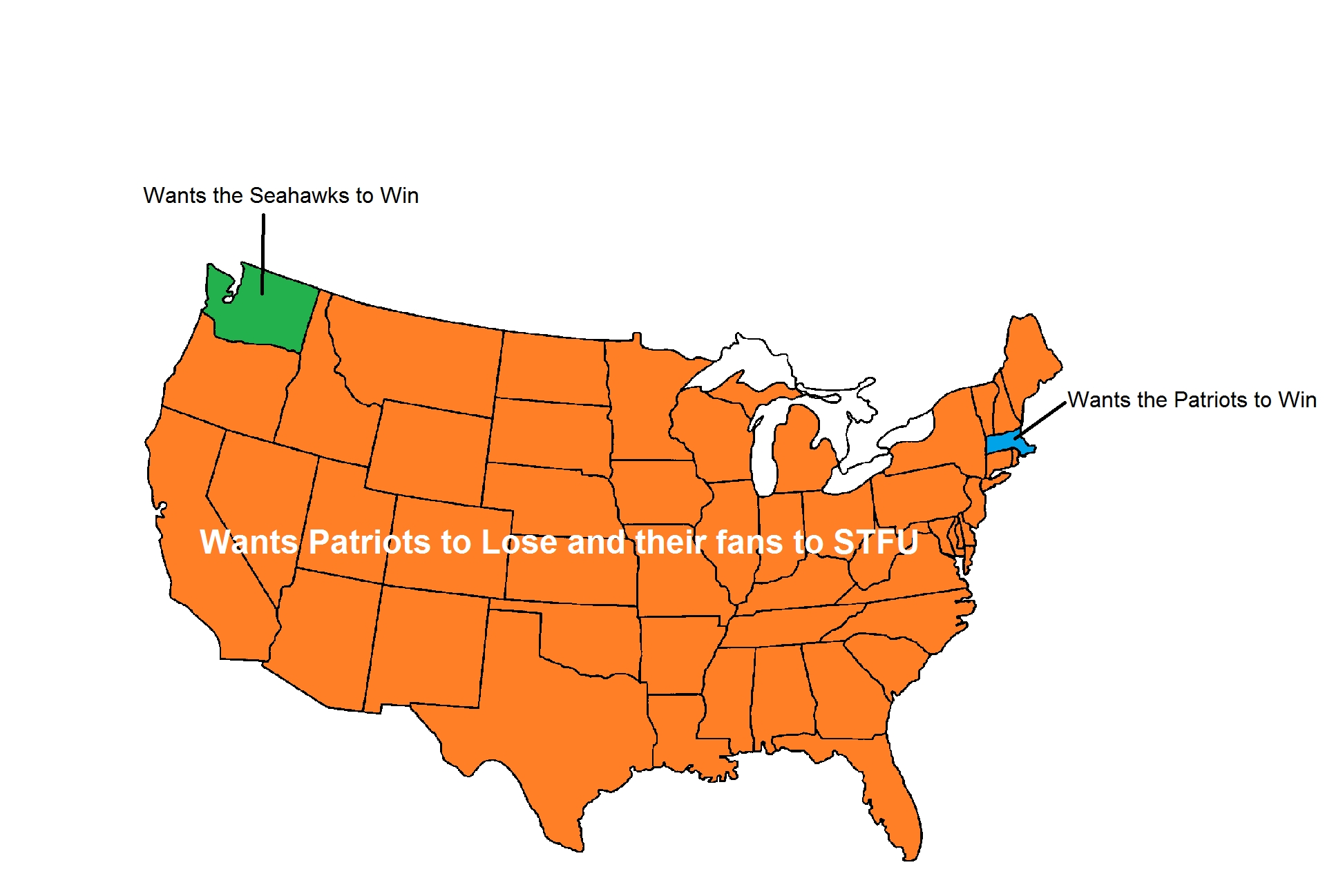My Take On The Superbowl - Imgur within Map Of Who Wants To Win Super Bowl