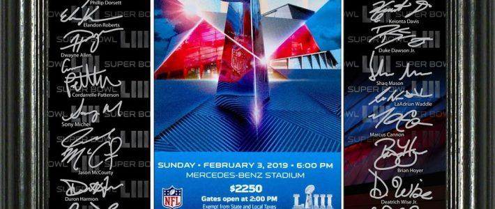 New England Patriots Super Bowl 53 Champions Signature in Super Bowl 53 Ticket Prices