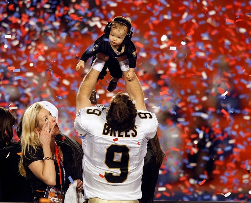 New Orleans Saints Quarterback Drew Brees Wins Super Bowl inside Saints Last Super Bowl