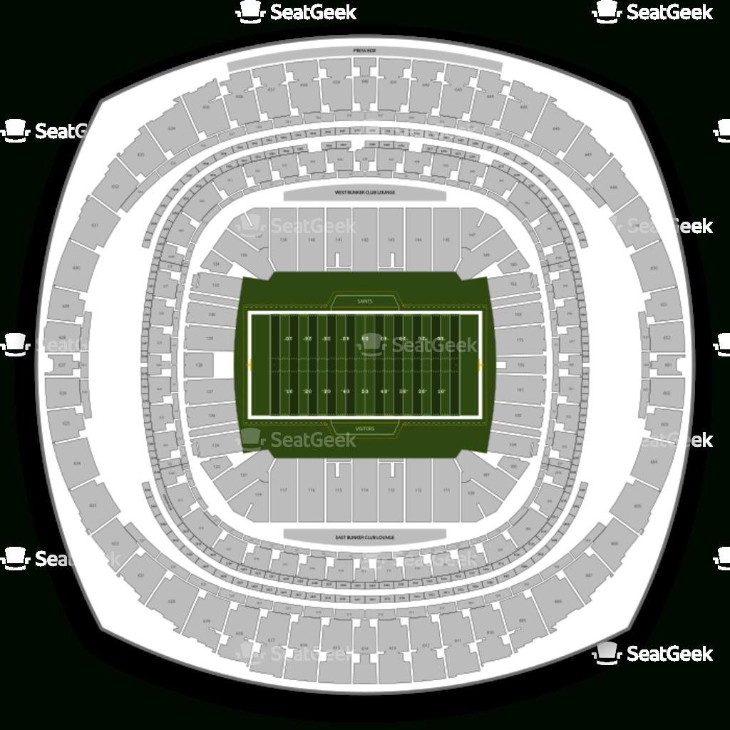 New Orleans Saints Seating Chart & Map | Seatgeek intended for New Orleans Super Bowl Seating Chart