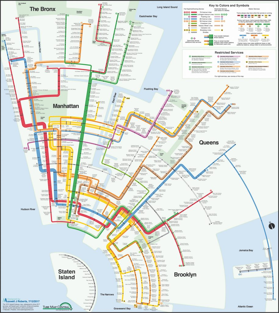 New York City Subway Concentric Circle Map In A Massimo in Vignelli Super Bowl Map