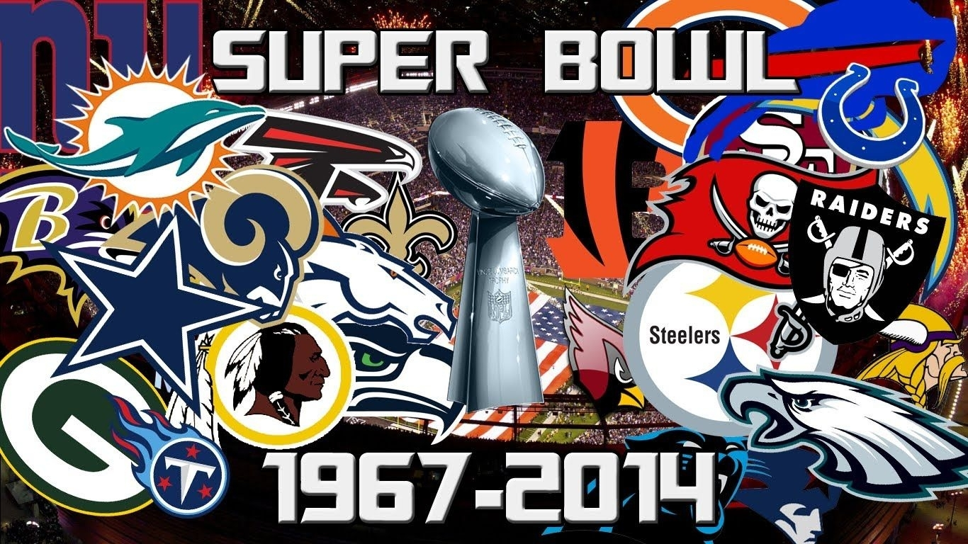 Nfl All Super Bowl Winners 1967-2014 | Superbowls | Super for Super Bowls From 1967 To 2014