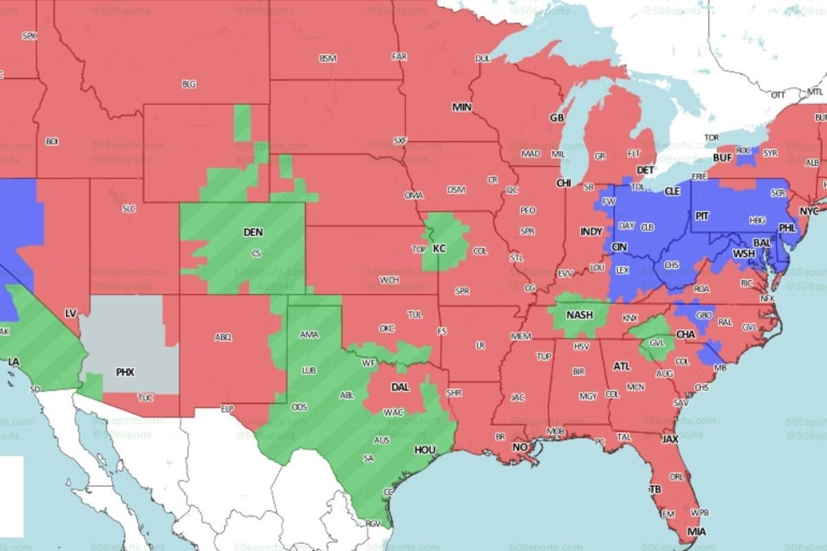 Nfl Distribution Map: Will Get To See The Steelers Vs. 49Ers inside Super Bowl Sunday Maps And Atlases Lyrics