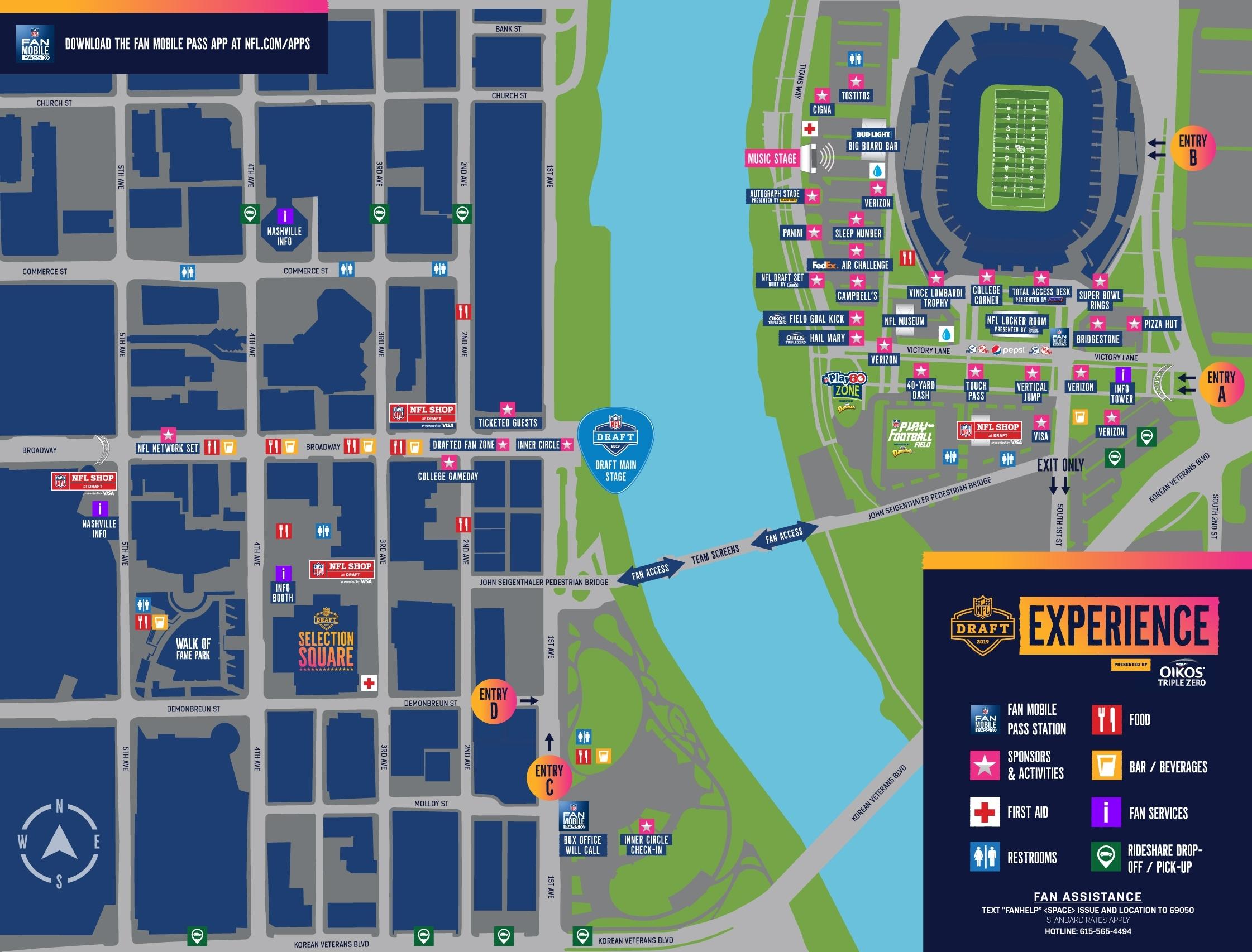 Nfl Events | Nfl | Nfl for Super Bowl Fan Map 2019