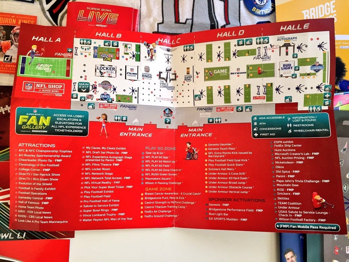 Nfl Experience Map | Mr.blair Hughes' Fan Engagement, Sports throughout Super Bowl Experience Map
