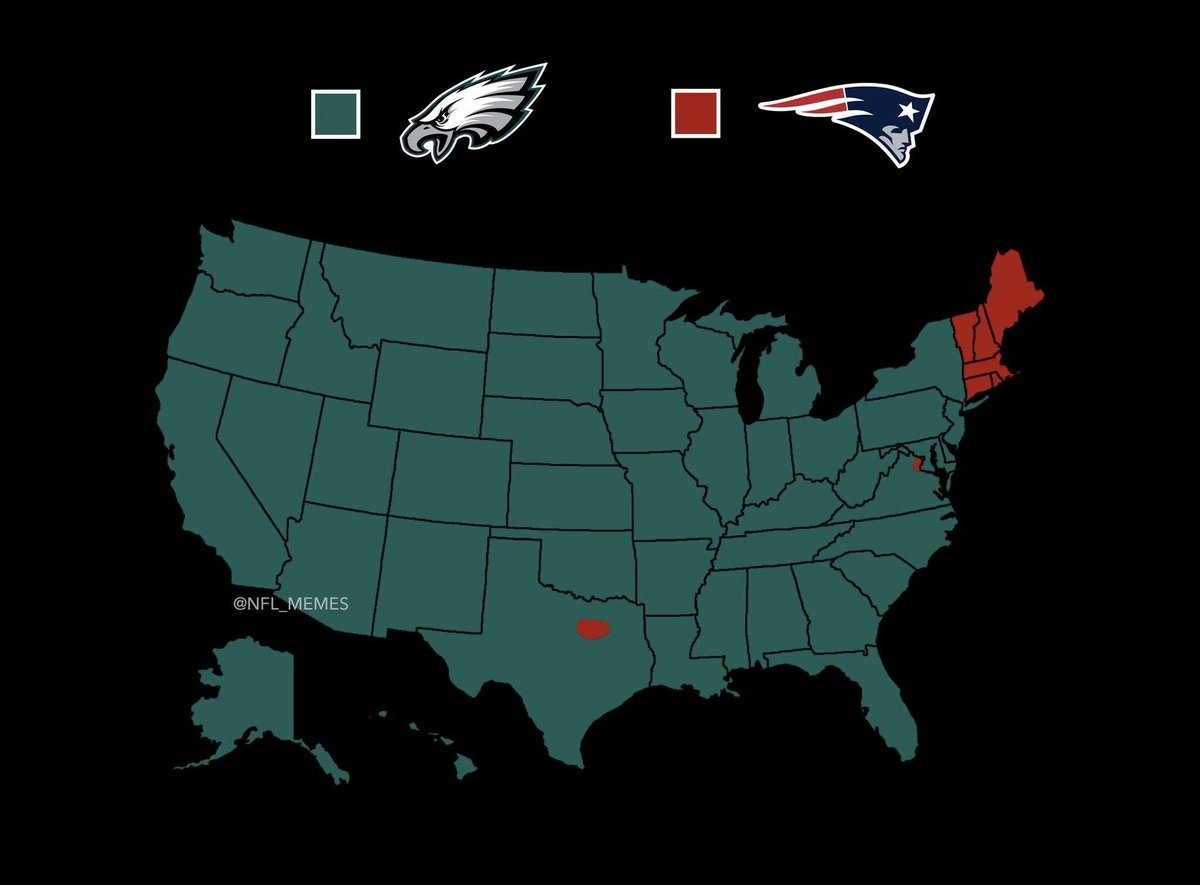 "Nfl Memes On Twitter: ""who America Is Rooting For In The pertaining to Super Bowl Rooting Map"