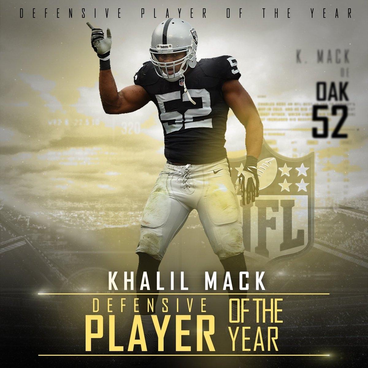 "Nfl On Espn On Twitter: ""khalil Mack Has Won The 2016 Ap Nfl with Vote For Nfl Super Bowl Mvp"