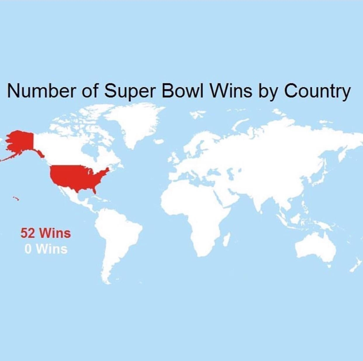 Number Of Super Bowl Winscountry : Mapporncirclejerk intended for Map Of Super Bowl Wins By Country