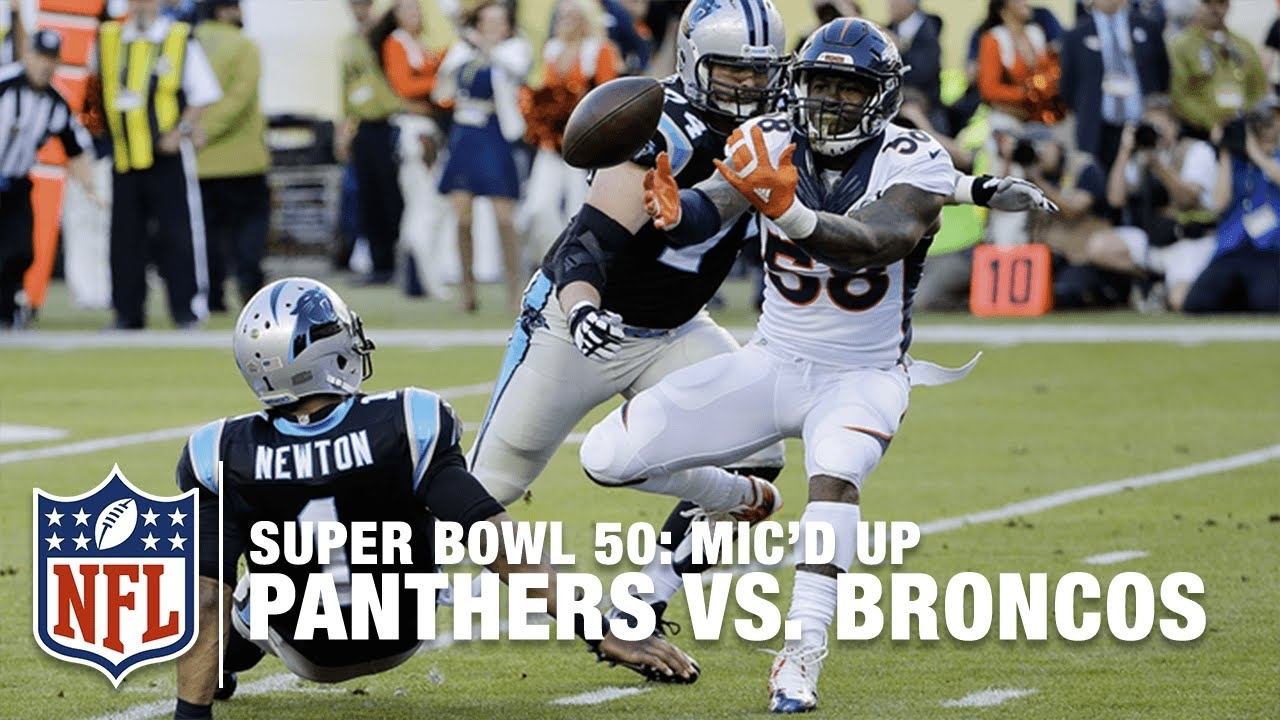 Panthers Vs. Broncos: Super Bowl 50 | First Half Mic'D Up Highlights |  Inside The Nfl with regard to Panthers Broncos Super Bowl