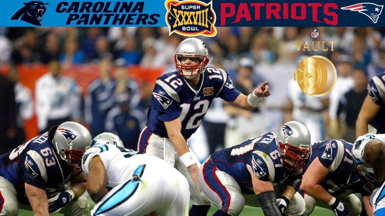 Panthers Vs. Patriots Super Bowl 38   Nfl Vault Highlights regarding Patriots Panthers Super Bowl