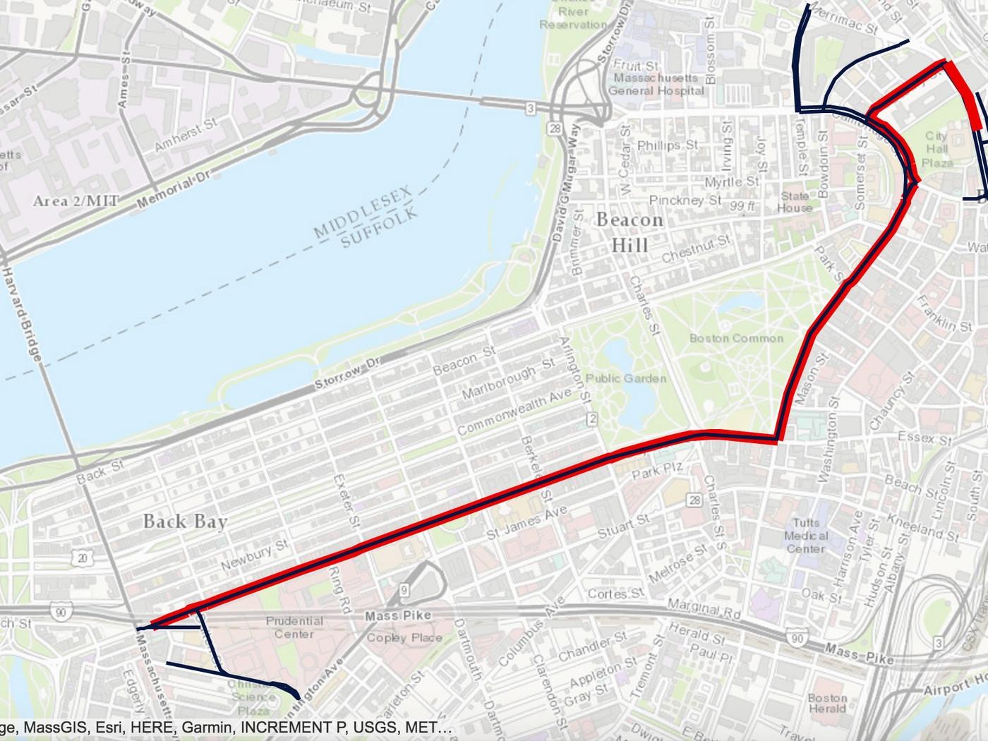 Patriots Super Bowl Parade 2017: Map, Route, And Road regarding Atlanta Super Bowl Road Closures Map