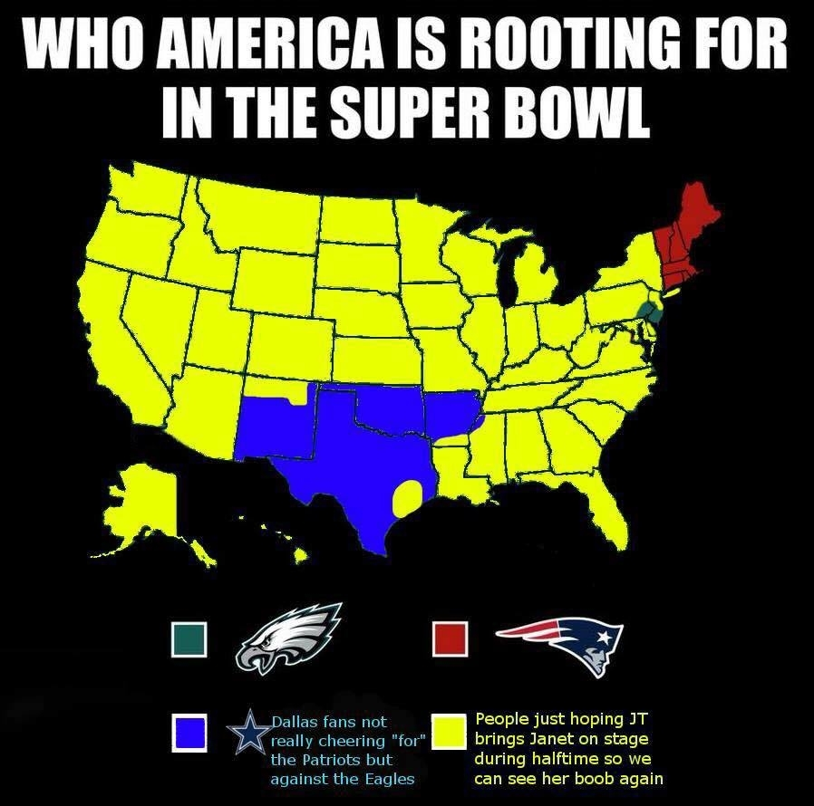 Patriots Vs Eagles: 15 Memes To Kick Off Super Bowl Weekend pertaining to Super Bowl 2019 Map Meme