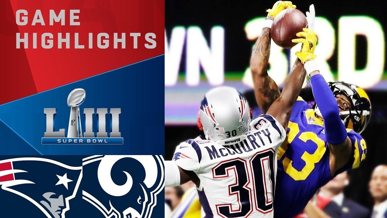 Patriots Vs. Rams   Super Bowl Liii Game Highlights with regard to Nfl Super Bowl Liii