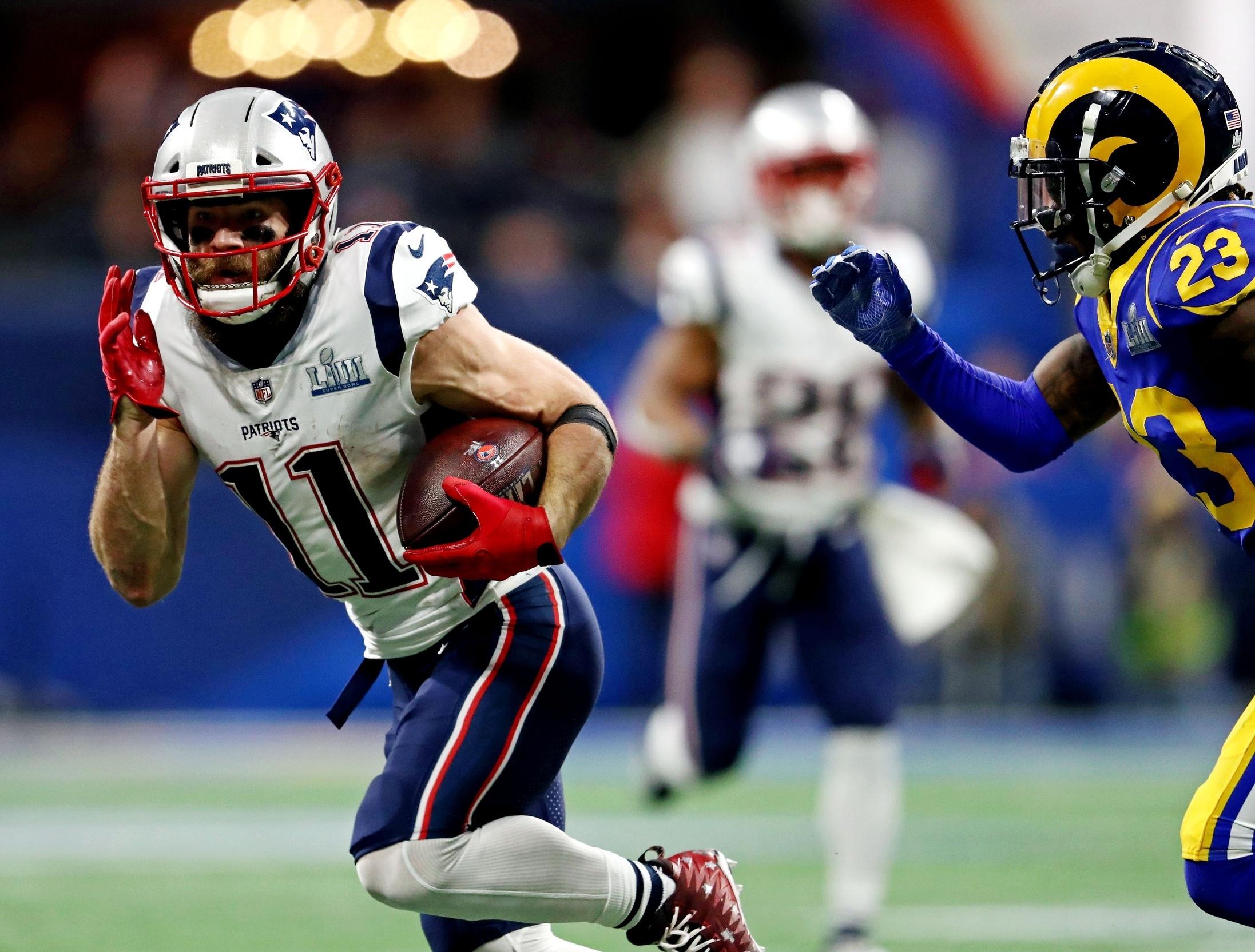 Patriots Wr Julian Edelman Wins Super Bowl Liii Mvp With 10 for Julian Edelman Super Bowl Liii