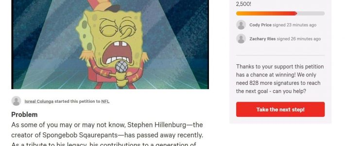 """Petition To Have Song """"sweet Victory"""" From Spongebob in Super Bowl Sweet Victory"""