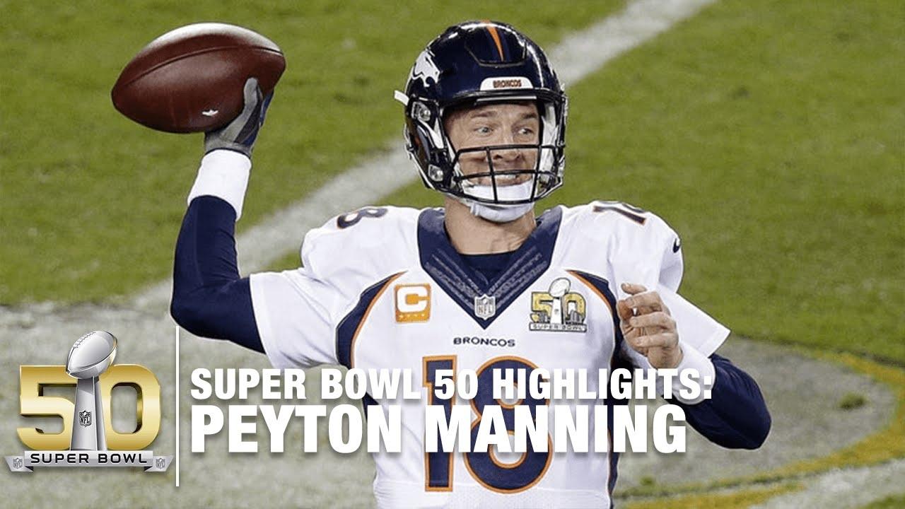 Peyton Manning Super Bowl 50 Highlights   Panthers Vs. Broncos   Nfl regarding Peyton Manning Super Bowl