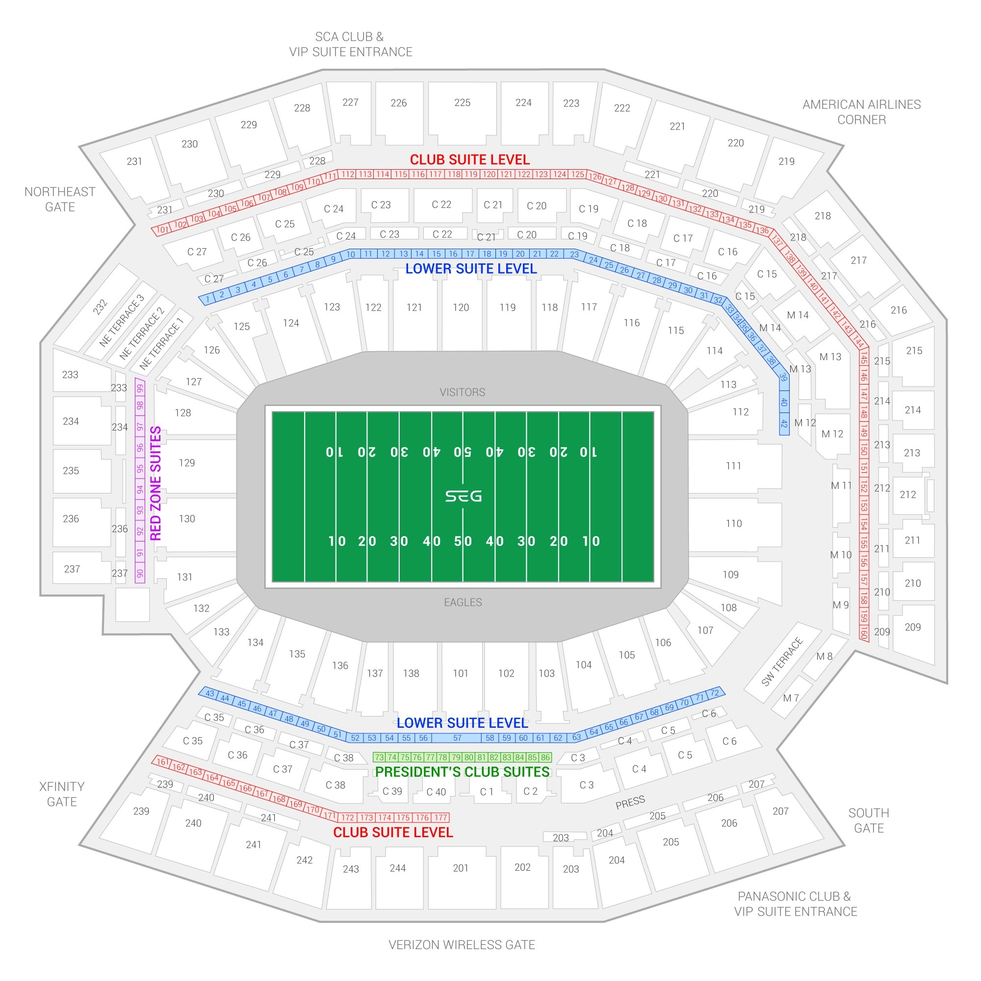 Philadelphia Eagles Suite Rentals | Lincoln Financial Field regarding Super Bowl 2019 Seating Chart
