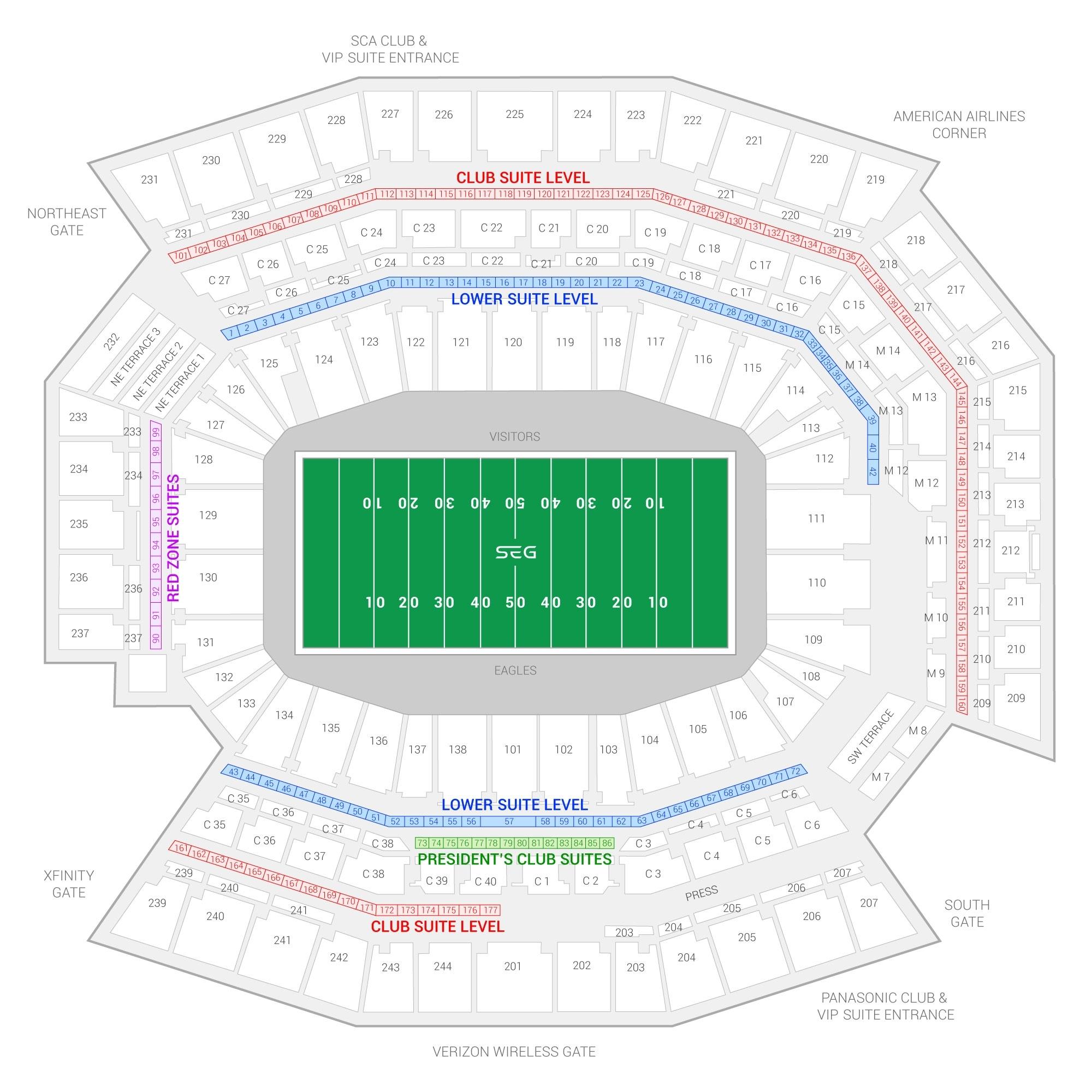 Philadelphia Eagles Suite Rentals | Lincoln Financial Field regarding Super Bowl 2019 Seating Chart