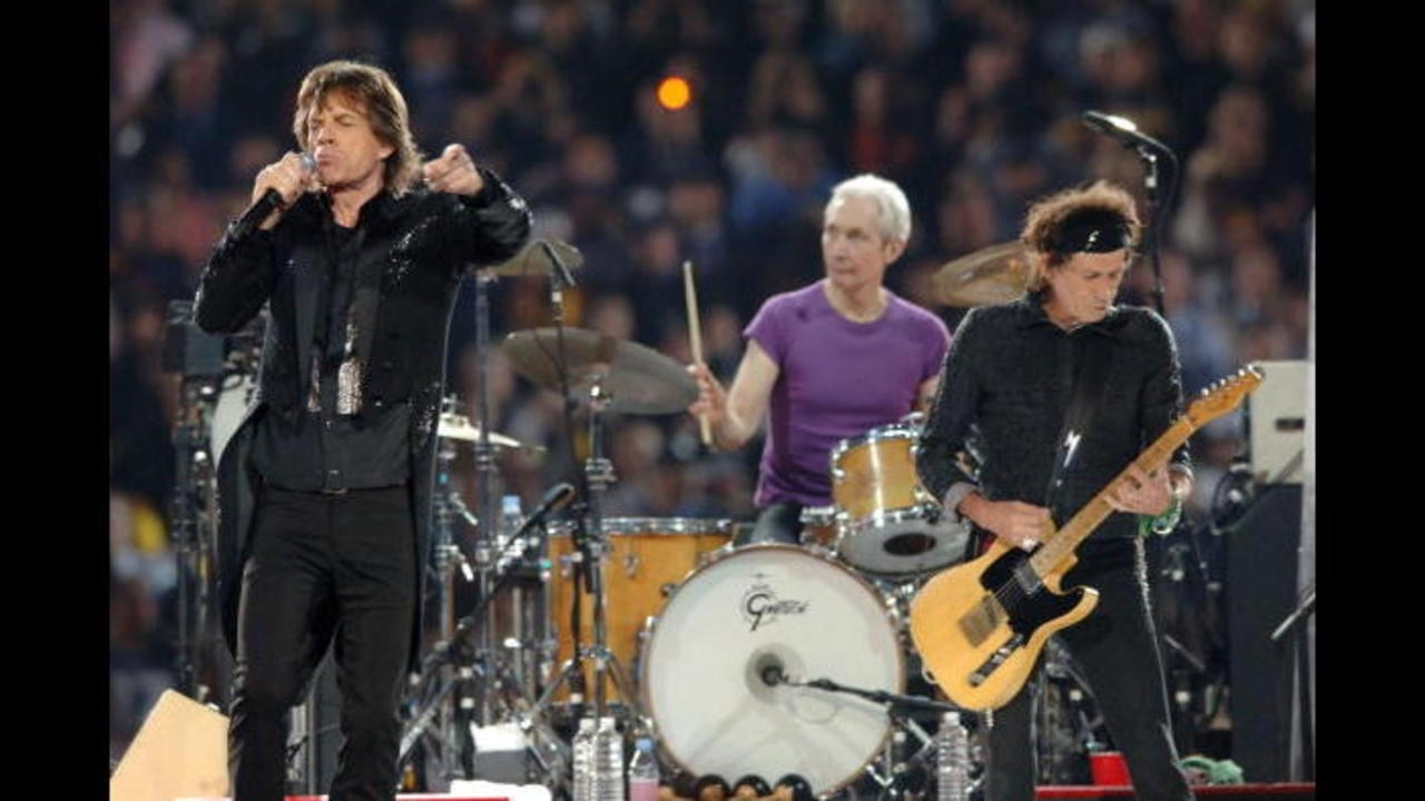 Photos: Rolling Stones Super Bowl Xl Halftime Show | Wpxi throughout Rolling Stones Super Bowl
