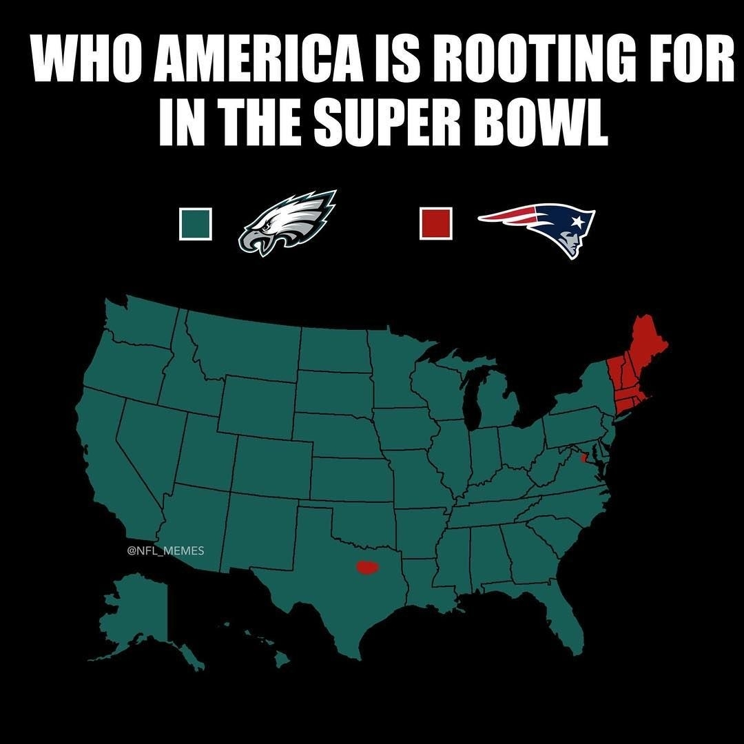 Pin On Emily Gee with Map Of Rooting For Super Bowl