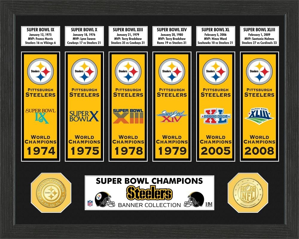 Pittsburgh Steelers Super Bowl Banner Collection Photo Mint within Steelers Last Super Bowl